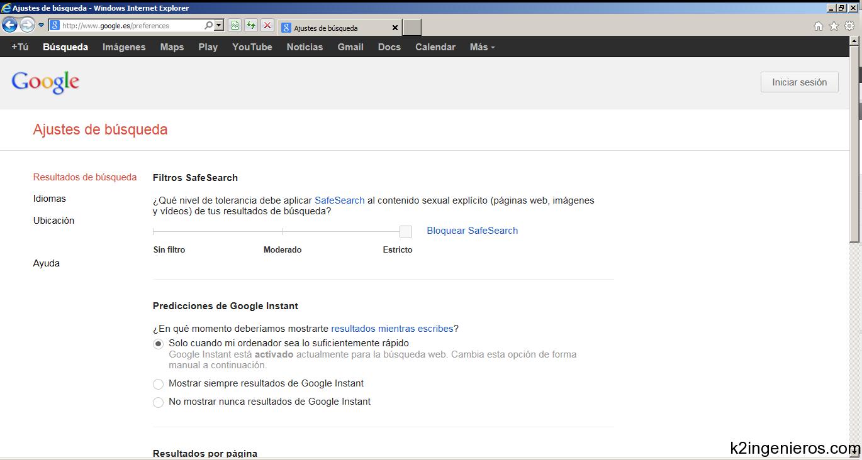 Filtrar las búsquedas en google